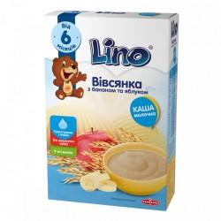 Каша молочная Lino Овсяная с бананом и яблоком 190 г
