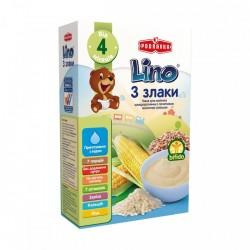 Каша молочная Lino 3 злака с молочной смесью 210 г