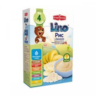 Каша молочная Lino Рисовая с бананом и молочной смесью 210 г