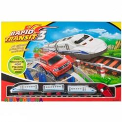 Железная дорога с поездом и машинкой LiXin 9916