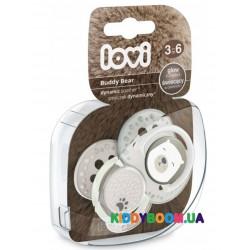 Пустышка силиконовая динамическая LOVI Buddy bear 2 шт. (3-6 мес.) 22/864
