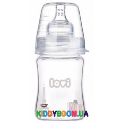 Стеклянная бутылочка 150 мл. LOVI Diamond Glass - Retro girl 74/102