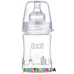 Стеклянная бутылочка 150 мл. LOVI Diamond Glass - Retro boy 74/103