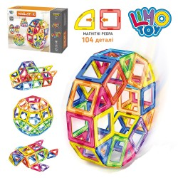 Магнитный конструктор LT1003 104 детали Magnistar Limo toy