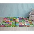 Детский развивающий термоковрик Футбол-буквы 120 х 180 х 0.5 см Mat4Baby 209