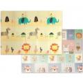 Складной развивающий термоковрик Слон+Музыкальные животные 200 х 150 х 1 см Mat4Baby 249