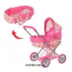 Классическая коляска для кукол с корзинкой Melogo 9369/82100