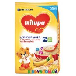 Каша молочная Milupa мультизлаковая с фруктами, хлопьями и шариками 210 гр