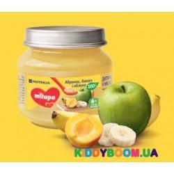 Фруктовое пюре Milupa (с 6-ти мес.) яблоко и банан 100 г.