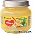 Фруктовое пюре (c 6-ти мес.) Milupa яблоко, банан и абрикос 100 г
