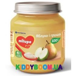 """Детское пюре Milupa """"Яблоко и груша"""" (125 гр) 142331"""