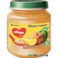 Фруктовое пюре Milupa яблоко, персик (125 гр)