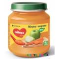 Детское пюре Milupa яблоко, морковь (125 гр)