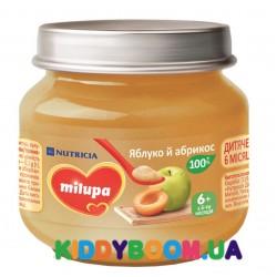 """Детское пюре Milupa """"Яблоко и абрикос"""" с витамином С (100 гр) 142313"""