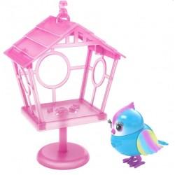 Интерактивная игрушка Говорящая птичка Рейбоу Твитс со скворечником Moose 26102