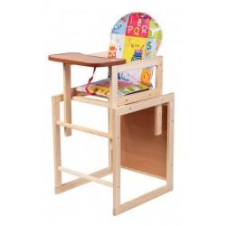 Деревянный стульчик для кормления трансформер Наталка Зайчик разноцветный (Азбука)