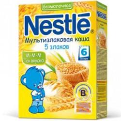 Каша Nestle мультизлаковая каша 5 злаков, безмолочная (с 6мес) 250 гр