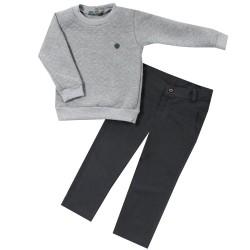 Свитшот с брюками для мальчика Little City Gray р.92-110