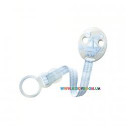 Клипса для пустышек Baby Blue с лентой NUK 10256251