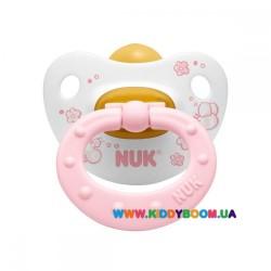 Пустышка ортодонтическая для сна Baby Rose 6-18 мес NUK 10733924