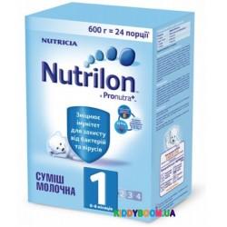 Сухая молочная смесь Nutrilon 1 (0-6 мес) с пребиотиками 600 гр.