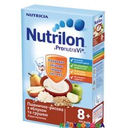 Каша молочная c 8-ми мес Нутрилон пшенично-рисовая с яблоком и грушей 225 г