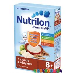 Каша молочная с 8-ми мес Нутрилон 7 злаков с яблоком 225 г