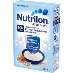 Каша молочная Nutrilon 4 злака с рисовыми шариками (с 10 мес.) 225 гр.