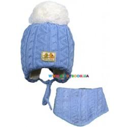 Комплект для мальчика (шапка + манишка) Olta 11-112017