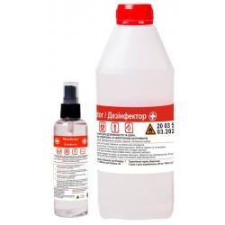 Набор антисептик для кожи  Disinfector Дезинфектор 100 мл спрей + запаска 1л