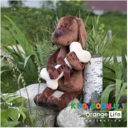 Мягкая игрушка Пес Барбоська с косточкой (30 см) Orange OS071/20