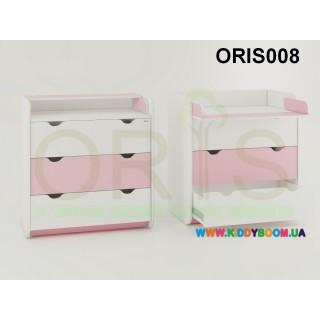 Комод-пеленатор Colour на 3 ящика Oris-mebel ORIS008