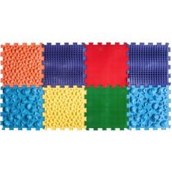 Массажный коврик Пазлы Микс Морской 8 элементов Ortek (Ортек) 9711