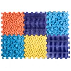 Массажный коврик Пазлы Микс Морской 6 элементов Ortek (Ортек) 9713