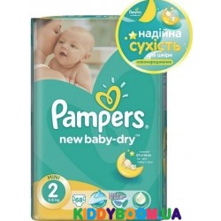 Подгузники Pampers New Baby-Dry 2 mini (3-6 кг) 68 шт