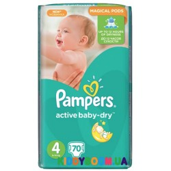 Подгузники Pampers  Active Baby Dry 4 maxi  (8-14 кг) 70 шт