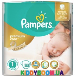 Подгузники Pampers Premium Care 1  Newborn (2-5 кг) 88 шт