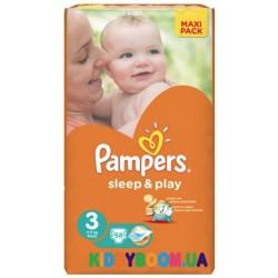 Подгузники Pampers Sleep & Play 3 midi  (4-9 кг) 58 шт