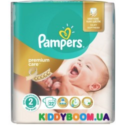 Подгузники Pampers Premium Care 2 Mini (3-6 кг) 22 шт