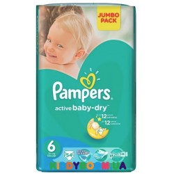 Подгузники Pampers Active Baby Dry Extra Large 6 JP (15+)  54 шт