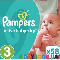 Подгузники Pampers Active Baby Dry 3 midi (5-9 кг) 58 шт
