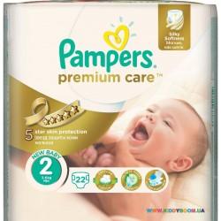 Подгузники Pampers Premium Care 2 Mini (3-6 кг) 22 шт