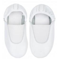 Детские чешки кожаные белые р.24-35 Pellagio 020\04