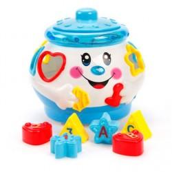 Развивающая музыкальная игрушка сортер Музыкальный горшочек 0915 Limo Toy Голубой