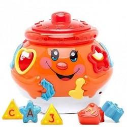 Развивающая музыкальная игрушка сортер Музыкальный горшочек 0915 Limo Toy Оранжевый