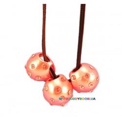 Подвеска Три розовые жемчужины Принцесса HA-10719