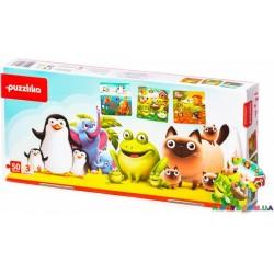Пазлы Puzzlika 3 в 1 Любимые животные 12985