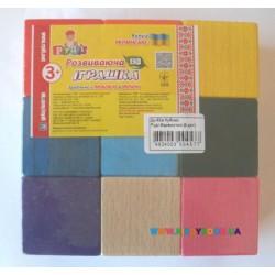 Кубики цветные 9 дет. Руді Ду-62а