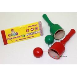 Игра бильбоке - поймай шарик разноцветная Руді Д130ру
