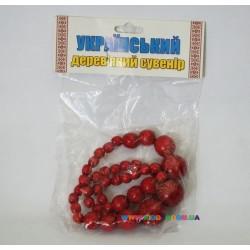 Набор Украиночка Бусы 25 см и браслет Руді Д383у